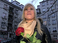 Attractive Girl Gets Picked Up On The Street On Valentine's Day