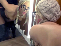 Sexy Blonde Chick Gets Nailed In A Changing Room