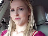 Cute Blonde Teen Hitchhikes And Fucked In The Car