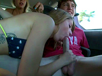 Naughty Girl Gives A Blowjob On The Way To The Beach
