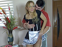 Sexy Maid Gets Screwed While Cleaning The House
