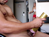 Caught My Roommate While Fucking His Fleshlight