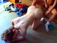 Naughty Girl Records Her Redhead Friend Fucking