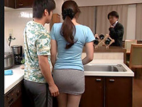 Asian Housewife Screwed On The Kitchen's Counter
