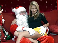 Naughty Girl Doesn't Hesitate To Make Santa Happy