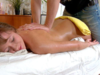 Gorgeous Teen Babe Gets Cum Covered After A Massage