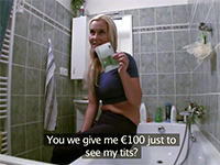 Fake Plumber Convinces Naive Wife Into Fucking For Cash