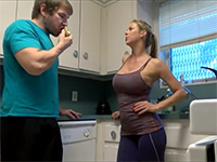 Real Sexy Step Mom Seduces Horny Young Stud In The Kitchen