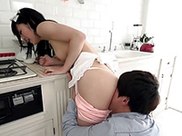 Lovely Japanese Maid Fucked By Her Boss In The Kitchen