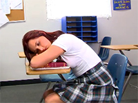 Naughty High School Girl Gets Punished For Falling Asleep In Class