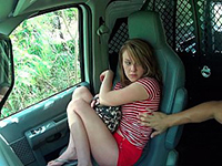 Sexy Teen Hitchhiker Bound And Fucked In The Truck