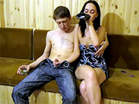 Drunk Russian Chick Banged At Home Party