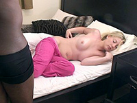 A Big Black Cock Ramming A Tight Pussy Of Sleeping Girlfriend