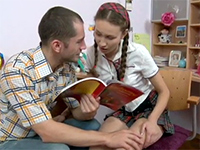 Teen Couple Getting Horny While Studying Together