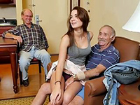 Rich Old Seniors Fucks The Neighbor's Slutty Daughter