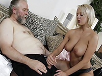 Teen Masturbates Older Man