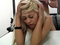 Amateur Blonde Teen Gets A Headache From Hard Banging