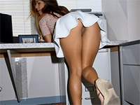 Naughty Latina Secretary Gets Fucked By Her Boss In The Office