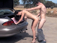 Dirty Couple Stops In The Middle Of The Road To Fuck Fuqer Video