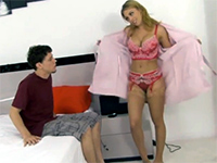 Cougar Blonde Mom Makes A Man Out Of Teen Boy