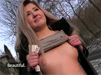 Busty Blonde Met On The Street And Fucked For Money