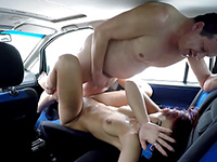 Real Czech Street Whore Takes Money For Car Sex