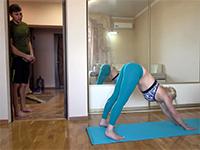 Flexible Blonde Babe Doing Yoga Makes Guy So Horny