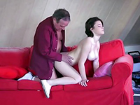 Young Russian Maid Cleans Her Rich Bosses Cock