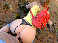 Big Booty Teen Fucked While Hiking In The Outdoors