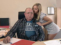 Blonde Teen Secretary Seduces And Blows An Old Man
