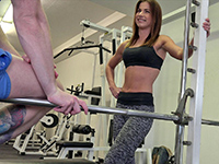 Sexy Fitness Coach Persuaded For Sex At The Gym