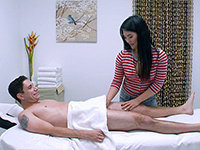 Asian Masseuse Fucks Her Client On Massage Table