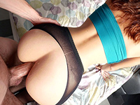 Gorgeous Gf Opens Her Ass For Quick Anal Creampie