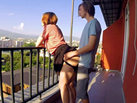 Naughty Russian Gf Gets Surprisingly Banged On The Balcony