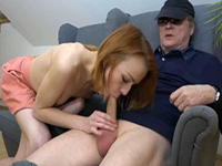 Redhead Teen Gives Grandpa The Time Of His Life