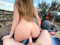 Two Naughty Girls Fucking On Hiking Trip