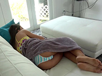 Peeping Step Brother Got Lucky With Naughty Step Sister