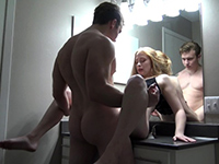 Horny Cousins Almost Caught Fucking In A Bathroom