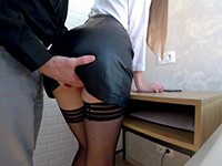 Dirty Boss Grabbed And Fucked Secretary On Office Table