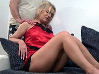 Dirty Guy Gives Stepmom A Back Massage And Creampie