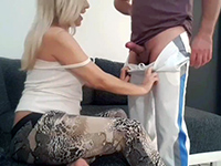 Cougar Milf Took Stepsons Cock For A Quick Snack