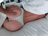 Girlfriend Gets Fucked In The Morning With Her Panties On