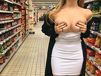 Naughty Blonde Has Risky Public Fuck At Supermarket
