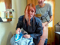 Redhead Gf Nailed Rough For A Badly Ironed Shirt