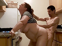 Amateur Couple Loves Oral Before Hard Fucking In The Kitchen