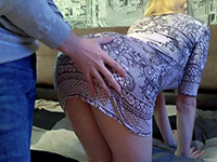 Gf Wearing Short Skirt Without Panties Gets Fucked From Behind