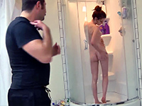 Dirty Dad Joins Her In The Shower