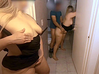 Horny Blonde Watching Stepsister Fucking Boyfriend After Party