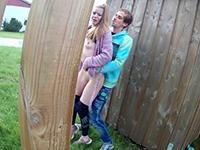 Crazy Couple Make A Risky Sex Fun Outdoor
